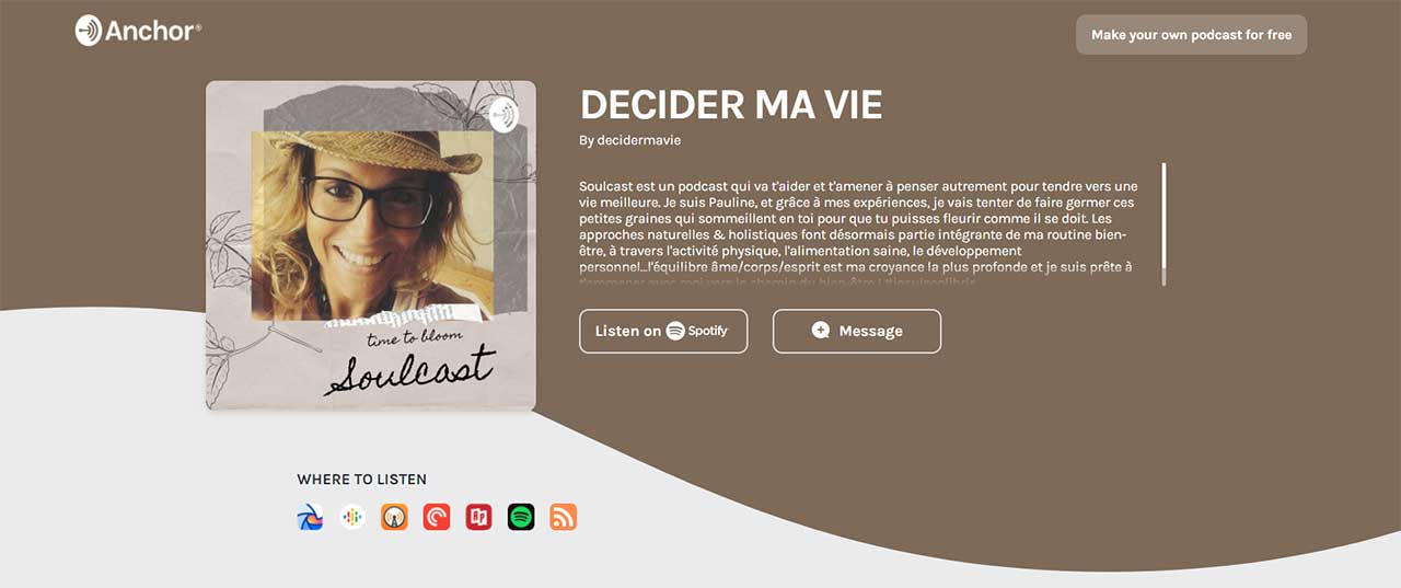 Affiche Podcast Pauline